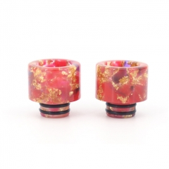 Replacement 510 Resin Drip Tip 2pcs - Orange Red