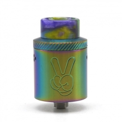 Yup Style 24mm RDA Rebuildable Dripping Atomizer w/BF Pin - Rainbow