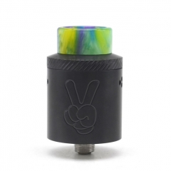 Yup Style 24mm RDA Rebuildable Dripping Atomizer w/BF Pin - Black