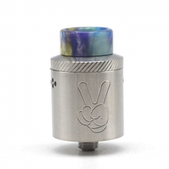 Yup Style 24mm RDA Rebuildable Dripping Atomizer w/BF Pin - Silver