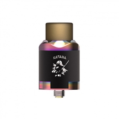 Authentic IJOY Katana 24mm RDA Rebuildable Dripping Atomizer w/BF Pin - Mirror Rainbow