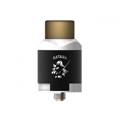 Authentic IJOY Katana 24mm RDA Rebuildable Dripping Atomizer w/BF Pin - Mirror White