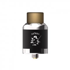 Authentic IJOY Katana 24mm RDA Rebuildable Dripping Atomizer w/BF Pin - Mirror Silver