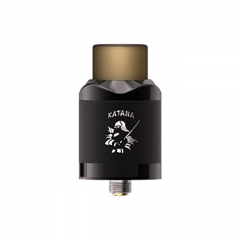 Authentic IJOY Katana 24mm RDA Rebuildable Dripping Atomizer w/BF Pin - Mirror Black