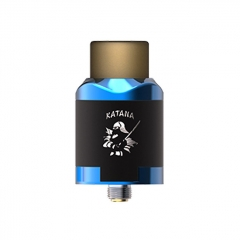 Authentic IJOY Katana 24mm RDA Rebuildable Dripping Atomizer w/BF Pin - Mirror Blue