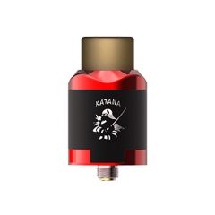 Authentic IJOY Katana 24mm RDA Rebuildable Dripping Atomizer w/BF Pin - Mirror Red
