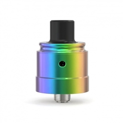 Authentic Ambition Mods C-Roll 316SS 22mm RDA Rebuildable Dripping Atomizer - Rainbow