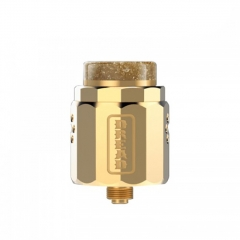 Authentic Damn Vape Dread 24mm RDA Rebuildable Dripping Atomizer w/BF Pin - Gold