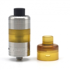 ULTON Whisper Style 316SS 22mm MTL/DL RDTA Rebuildable Dripping/Tank Atomizer 5ml- Silver