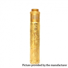 Pur King Style 18650/20700 Mechanical Mod 26mm w/ Carnage Style RDA Kit  - Gold