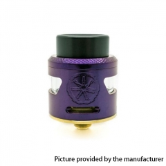 Authentic Asmodus Bunker 24.5mm RDA Rebuildable Dripping Atomzier w/ BF Pin - Purple