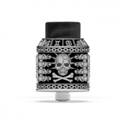Authentic Riscle Pirate King V2 24mm RDA Rebuildable Dripping Atomizer w/ BF Pin - Cupronickel