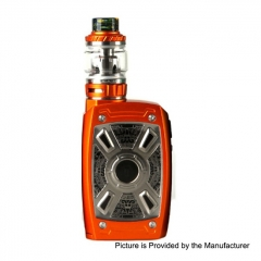 Authentic Teslacigs XT Mini 220W TC VW Variable Wattage Box Mod + Tallica Mini Tank 4ml/25mm Kit - Orange