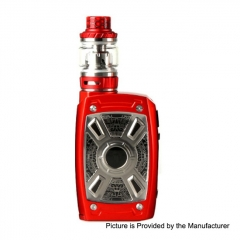 Authentic Teslacigs XT Mini 220W TC VW Variable Wattage Box Mod + Tallica Mini Tank 4ml/25mm Kit - Red