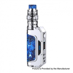 Authentic Talent Vape 1007 IOO7 117W 18650/20700/21700 VV/VW TC Temperature Control APV Box Mod+ Sub Ohm Tank Kit 25mm/6ml - Brushed Silver