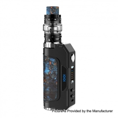 Authentic Talent Vape 1007 IOO7 117W 18650/20700/21700 VV/VW TC Temperature Control APV Box Mod+ Sub Ohm Tank Kit 25mm/6ml - Black