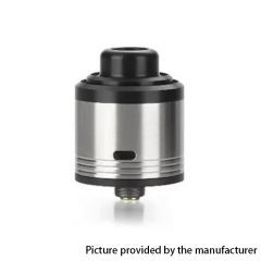 Authentic Gas Mods G.R.1 GR1 Pro 24mm RDA Rebuildable Dripping Atomizer w/ BF Pin - Silver
