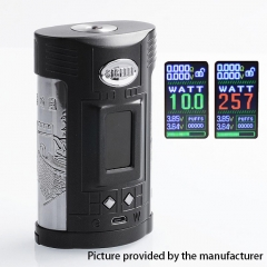 Authentic Sigelei GW 257W VW Variable Wattage Temerpature Control  Mod - Black+Gun Metal