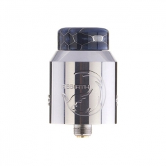 Authentic Hellvape Rebirth 24mm RDA Rebuildable Dripping Atomizer w/ BF Pin - Silver