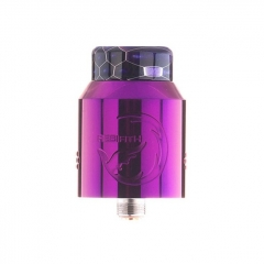 Authentic Hellvape Rebirth 24mm RDA Rebuildable Dripping Atomizer w/ BF Pin - Purple