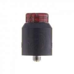 Authentic Hellvape Rebirth 24mm RDA Rebuildable Dripping Atomizer w/ BF Pin - Matte Full Black
