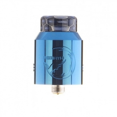 Authentic Hellvape Rebirth 24mm RDA Rebuildable Dripping Atomizer w/ BF Pin - Blue