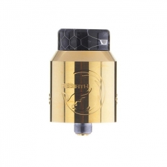 Authentic Hellvape Rebirth 24mm RDA Rebuildable Dripping Atomizer w/ BF Pin - Gold