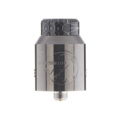Authentic Hellvape Rebirth 24mm RDA Rebuildable Dripping Atomizer w/ BF Pin - Gun Metal