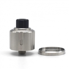 ULTON Strange Style 22mm/24mm 316SS RDA Rebuildable Dripping Atomizer w/BF Pin/Beauty Ring - Silver