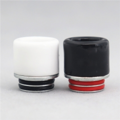 Clrane 810 Stainless + Ceramic Drip Tip 2pcs - Black White