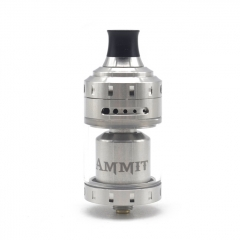 (Ships from Germany)Authentic Ammit 24mm MTL RTA Rebuildable Tank Atomizer 4ml - Silver