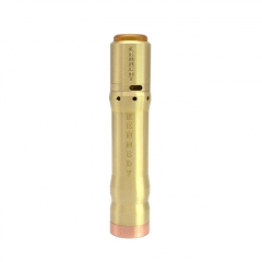 Vindicator Style 18650/20700/21700  25mm Hybrid Mechanical Mod w/ Atomizer Kit  - Brass