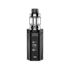 Authentic Rincoe Manto X Mesh 228W TC VW APV Box Mod w/Atomizer 6ml / 0.15/0.2ohm Kit - Black