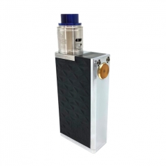SOB Emperor Style 24mm Mechanical Box Mod + Outlaw Style RDA Kit (POM + SS) - Black+Silver