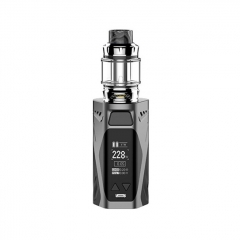 Authentic Rincoe Manto X Mesh 228W TC VW APV Box Mod w/Atomizer 6ml / 0.15/0.2ohm Kit - Gray