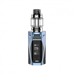 Authentic Rincoe Manto X Mesh 228W TC VW APV Box Mod w/Atomizer 6ml / 0.15/0.2ohm Kit - Blue
