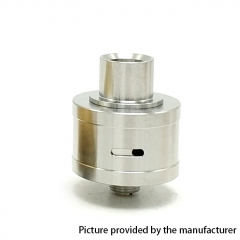 Coopervape Royal Atty DB 316SS 22mm RDA Rebuildable Dripping Atomizer w/BF Pin - Silver
