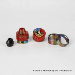 Authentic RFGVape 2+1 24.8mm RDA Rebuildable Dripping Atomizer w/ BF Pin - Red Resin