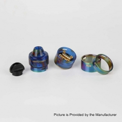 Authentic RFGVape 2+1 24.8mm RDA Rebuildable Dripping Atomizer w/ BF Pin - Blue Resin