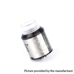 Coil Father King Drop Style 24mm RDA Rebuildable Dripping Atomizer - Silver