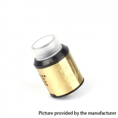 Coil Father King Drop Style 24mm RDA Rebuildable Dripping Atomizer - Gold