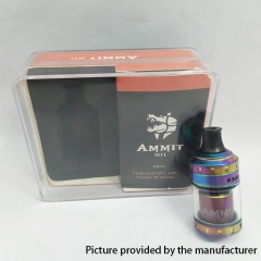 Ammit Style 24mm MTL RTA Rebuildable Tank Atomizer 4ml - Rainbow