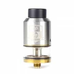 Coil Father King 25mm RDTA Rebuildable Dripping Tank Atomizer 6.5ml - Silver