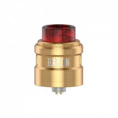 Authentic Geekvape Baron 24mm RDA Rebuildable Dripping Atomizer w/ BF Pin - Gold