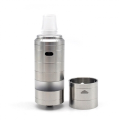 (Ships from Germany)ULTON Korina V8M 25mm 316SS RTA Rebuildable Tank Atomizer 11ml - Silver
