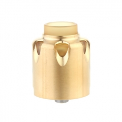 Dead Yellow Jacket Style 28mm RDA Rebuildable Dripping Atomizer w/BF Pin - Gold