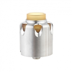 Dead Yellow Jacket Style 28mm RDA Rebuildable Dripping Atomizer w/BF Pin - Silver