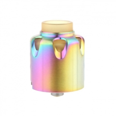 Dead Yellow Jacket Style 28mm RDA Rebuildable Dripping Atomizer w/BF Pin - Rainbow