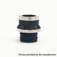 Coppervape Replacement 510 Drip Tip for Hussar Project X Style RTA - Black + Silver