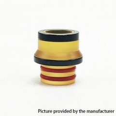 Coppervape Replacement 510 Drip Tip for Hussar Project X Style RTA - Black + Yellow